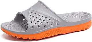 TONGDAUAE Pool Slides for Men Indoor Slippers Slip On Plastic EVA Soles Soft Cushioning Solid Color Vegan Youth Trendy (Co...