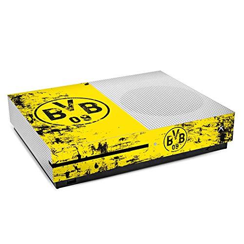 DeinDesign Skin kompatibel mit Microsoft Xbox One S Folie Sticker Borussia Dortmund Offizielles Lizenzprodukt BVB