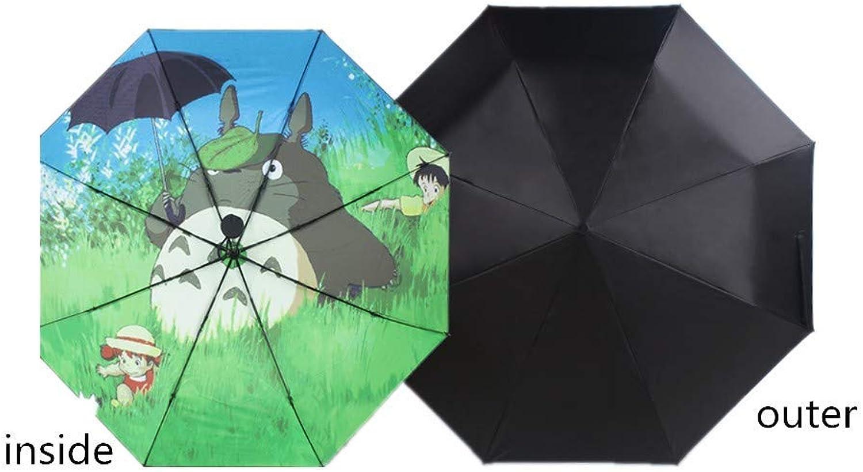 Folding Umbrellas Umbrella Personality Umbrella King Glory Animation Creative Trends Rain and Rain DualPurpose Folding Umbrella (My Neighbor Totgold), YS