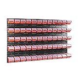 60 stck. Box mit Deckel + Wandregal 120 x 80 cm, Stapelboxen Schüttenregal Sichtlagerkästen Lagersystem (ROT)