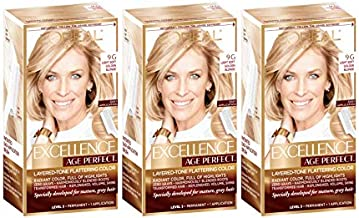 L'Oreal Paris Hair Color Excellence Age Perfect Layered-Tone Flattering Hair Color - (9G) Light Soft Golden Blonde (Pack of 3)