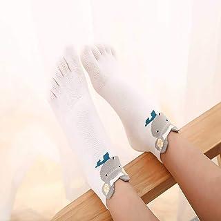 Calcetines para Niños Calcetines De Cinco Dedos De Algodón Calcetines De Animales Lindos De Dibujos Animados Primavera Verano Verano Otoño 3-7-12