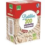 Vilac 2134 - Costruzioni, il piccolo costruttore: 200 pezzi in legno naturale [Lingua francese]