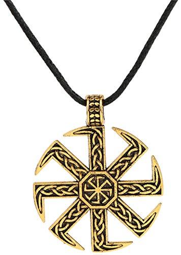 Lemegeton Kolovrat Amuleto Pagan Sun Talisman bijouterie Golden Colgante de alimentación Macho...