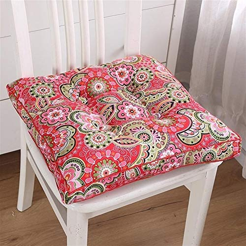 Chair Cushion Flower Pattern Tatami Floor Cushion Office Square Chair Pad Pillow Dinner Soft Seat Pad Outdoor Buttocks Cushion Pads Home Decor (Color : L)