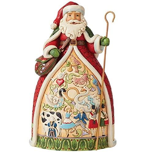 Enesco Jim Shore Heartwood Creek - Statuetta di Babbo Natale per dodici giorni
