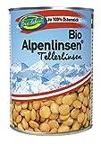 Latas de Lentejas Verdes orgánicos austríacos 6x400g sin gluten, de lentejas verde-marrón Laird, 100% de Austria orgánicos calidad extra 2,4kg
