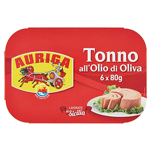 AURIGA Tonno all'Olio di Oliva Multipack, 480 Gramos