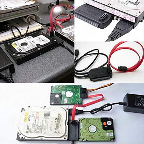 Youghalwell Cable Adaptador USB 2.0 a IDE SATA para convertidor de Disco de Disco Duro de 2.5/3.5 Pulgadas