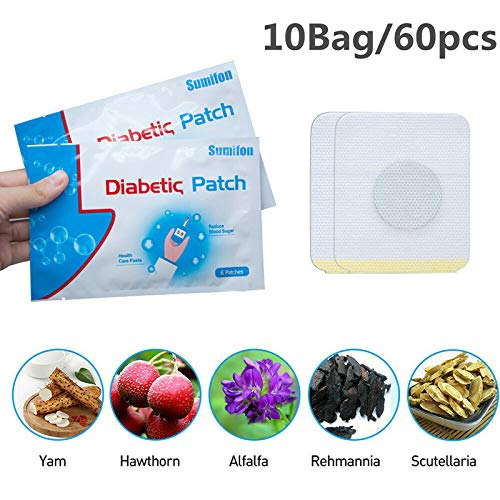 Helmay 60 pcs Diabetic Patch Natural Herbs Reduce High Blood Sugar Plaster
