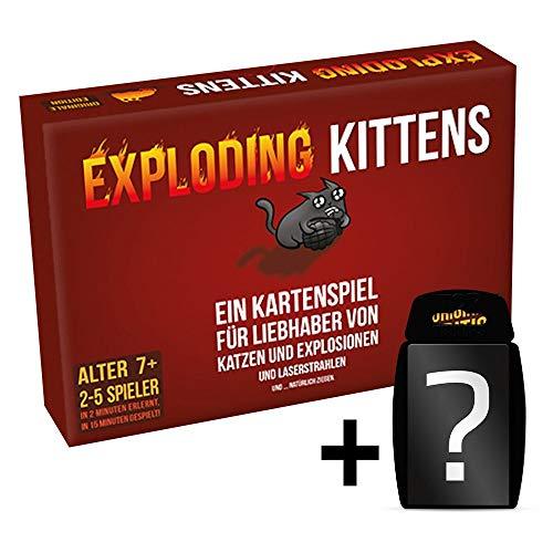 Exploding Kittens - Partyspiel - Kartenspiel   DEUTSCH   Set inkl. Kartenspiel