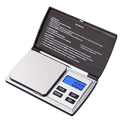 Y.Electronic Scale Digitale weegschaal LCD Ultradunne sieraden Drukkruidenweegschaal draagbare mini-zakweegschaal