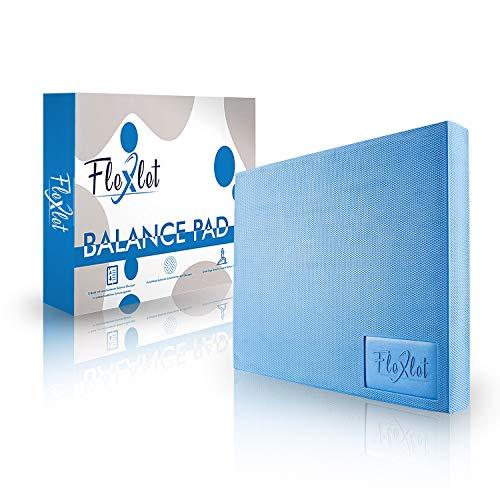 Flexlet ® XXL Balance Pad - belastbar bis 160 kg - 50x40x6 cm - Gratis Fitnessband - Für Balancetraining zur Verbesserung der Stabilität & Koordination - Gleichgewichtstrainer - Balance Kissen
