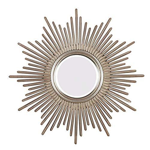 genral Espejo Colgante Espejo de Chimenea Espejo Decorativo Europeo Espejo en Forma de Sol Decoración de Pared Espejo Lateral Espejo sofá Fondo