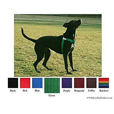 No-Choke No-Pull Front-Leading Dog Harnesses, Original Edition, 25-65 lbs, Kelly Green