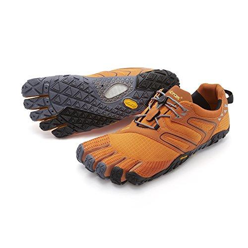 Vibram FiveFingers Vibram FiveFingers Herren V-Trail Traillaufschuhe, Orange (Orange/Grey/Black), 47 EU