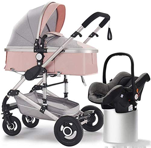 Cheap TZZ 2 in 1 Baby Stroller,Lightweight Pram with Safe Five-Point Harness and Brake, Adjustable B...