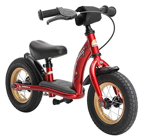 BIKESTAR Kinder Laufrad Lauflernrad Kinderrad für Jungen und Mädchen ab 2-3 Jahre 10 Zoll Classic Kinderlaufrad Rot
