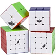 Vdealen - Zauberwürfel mit 6verschiedenen Farben, ohne lästige Sticker 2x2x2,3x3x3,4x4x4,5x5x5