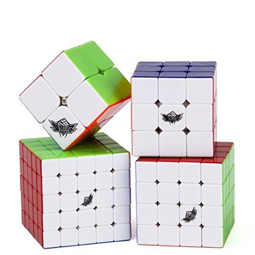 Vdealen Speed Cube Set de Cyclone Boys 2x2 3x3 4x4 5x5 Cube, Cubo de Velocidad Stickerless, Rompecabezas de Torneado Fácil y Juego Suave Inteligencia para Principiante y Pro
