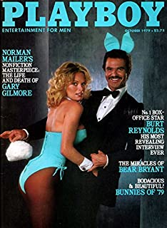 Playboy Vintage Magazine Back Issue Dated October 1979 with Burt Reynolds on the Cover