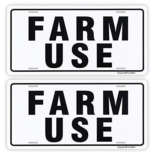 Enjoyist 2-Pack Farm Use Id Tag Sign,12'x 6' .04' Aluminum Reflective Sign Rust Free Aluminum-UV Protected and Weatherproof