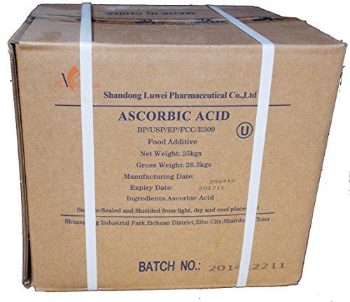 25kg Ascorbinsäure (Vitamin C) Lebensmittelqualität E300, versandkostenfrei