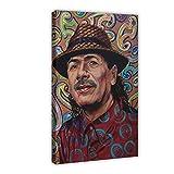 Guitarist Carlos Santana Art 1 Leinwand Poster Schlafzimmer