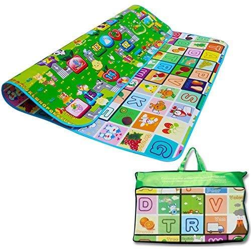Denny International ® Kids Crawling Educational 2 Side Play Mat Game Soft Foam Picnic Carpet 200X180cm