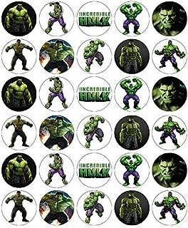 30 obleas comestibles de Hulk Avengers Marvel para cupcakes