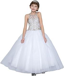 Calla Collection Big Girls Navy Floral Lace Junior Bridesmaid Dress 8-12