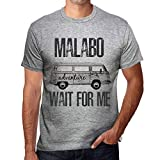 One in the City Hombre Camiseta Vintage T-Shirt Grfico Malabo Wait For Me Gris Moteado