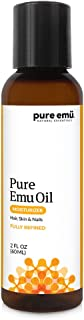 PURE EMU Emu Oil: Pure, Fully Refined Emu Oil For Hair, Skin & Nails   Natural, Safe & Hormone-Free   Clear, Odorless, and Highly Stable   Nature's Greatest Moisturizer, 2 fl oz