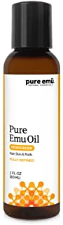 PURE EMU Emu Oil: Pure, Fully Refined Emu Oil For Hair, Skin & Nails | Natural, Safe & Hormone-Free | Clear, Odorless, and Highly Stable | Nature�s Greatest Moisturizer, 2 fl oz