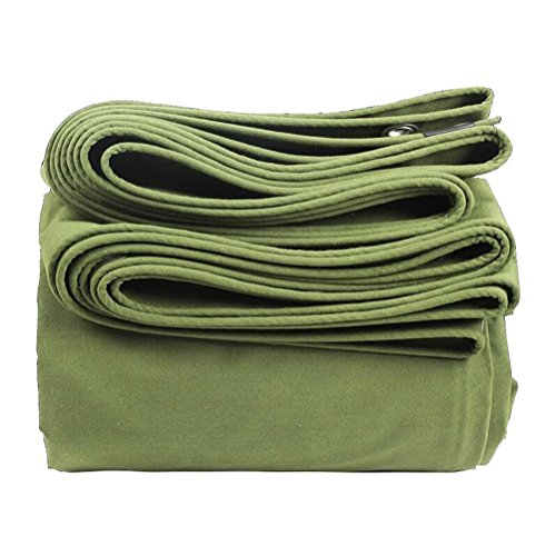 RFJJAL Starkes Segeltuch wasserdichtes Tuch/wasserdicht Sonnenschutz-Plane/LKW-Plane/Außen-Thermal Messer Messer Tuch / 600g / qm, 0.85mm (Color : Green, Size : 4 * 6m)