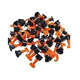Kit de Système de Nivellement Leveller de Carrelage Réutilisable pour Outils de Construction de Murs en Céramique 100pcs avec Croisillons de Croix 200pcs