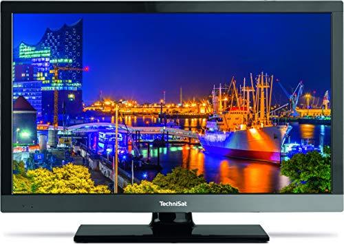 TechniSat TECHNILINE PRO 22 Zoll (55 cm) Full-HD Fernseher (12 Volt geeignet, Einkabel-TwinTuner, Smart TV, PVR Aufnahmefunktion, LAN) schwarz/titan metallic
