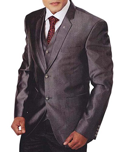 INMONARCH Hommes Costume Smoking Gris Pc 5 TX955R36 46 Or S (Hauteur 171 cm a 180 cm) Gris foncÉ