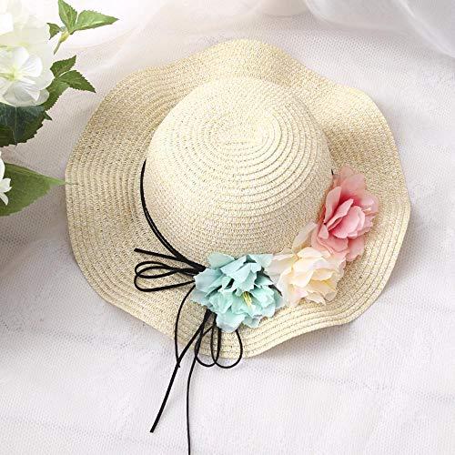 Yarmy hoeden voor dames, Kind bloem vizier Baby zonnebrandcrème Zomer hoeden strand grote dakrand zonneklep cap Eenvoudig te vouwen en outdoor reizen essentieel