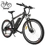 BIKFUN Vélo Électrique, E Bike 26 Pouces, Batterie au Lithium (36V 12.5Ah), Moteur Silencieux sans Balais 250W, Transmission Shimano 21 Vitesses