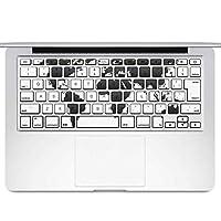 igsticker MacBook Air 13inch 2010 ~ 2017 専用 キーボード用スキンシール キートップ ステッカー A1466 A1369 Apple マックブック エア ノートパソコン アクセサリー 保護 015960 世界地図 黒 map