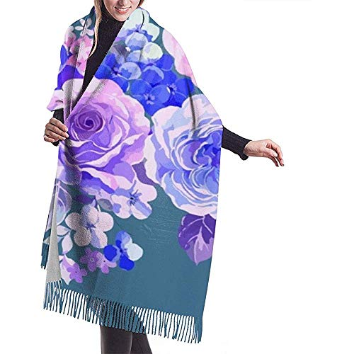 Cathy rozen-pioenrozen-bonte bloemen-sjaal-verpakking-winter-warme sjaal-omhang grote zachte sjaalverpakking