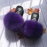 Kirin-1 Pantofole Pelose Donna Estive,Cursori Soffici Womns Arcobaleno Colore Spessore-36_k