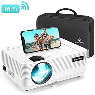 VANKYO Leisure 470 Mini Projector with Synchronize Smart Phone Screen, Full HD 1080P Supported and 250'' Display, 4000 Lux WiFi Portable Projector Compatible with TV Stick, PS4, HDMI, VGA, TF, AV, USB from vankyo