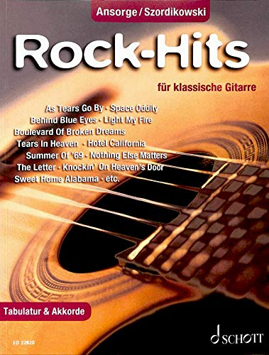 Rock-Hits ED22820 9783795712471 - Juego de 25 canciones para guitarra acústica (con pastillas)