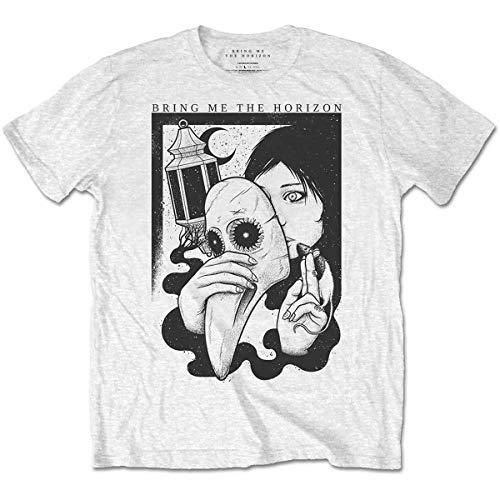Rockoff Trade Bring Me The Horizon Plague Camiseta, Blanco, S para Hombre