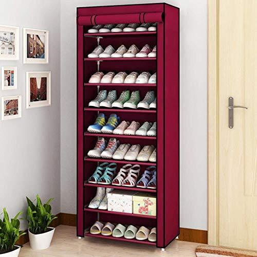 Zapatero organizador de zapatos de metal de aluminio para zapatos, estante de almacenamiento de zapatos, organizador de casa, accesorios, velcro 20