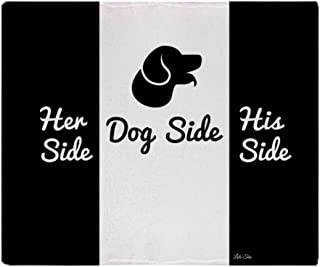 CafePress-Dog Side Vs His/Her Side Bedspread-Soft Fleece Throw Blanket