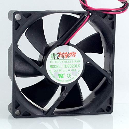TD8020LS 12V 0.08A 8CM Water Dispenser Fan 808020MM Silent Fan
