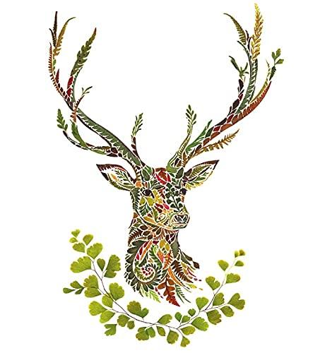 Oktober-Fest Servilletas con cabeza de ciervo, 33 x 33 cm, 20 unidades, 3 capas, FSC